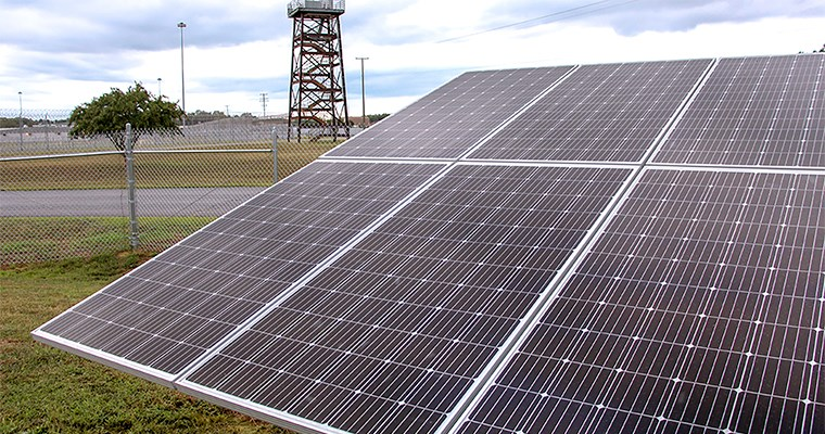 Solar panels at VADOC facility.
